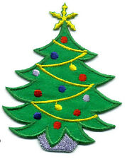 Christmas - Christmas Tree - Embroidered Decorations - Iron On Applique Patch