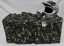 MOTO X ATV GEAR BAG MOTOCROSS MX OFF ROAD PAINTBALL GREEN CAMO