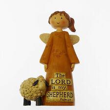 "The Lord is my Sheperd Resin angel ornament statue 5"" 12cm Christmas gift Sheep"
