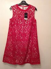 New With Tags ��Next��Size 10 Hot Deep Pink Lace Day Holiday Dress Length 35.5""