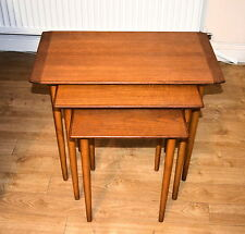 Vintage Retro Nest of Three SCANDINAVIAN Rosewood Coffee Side Tables Ercol era