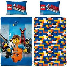 LEGO TOY MOVIE AWESOME REVERSIBLE BRICKS SINGLE DUVET QUILT COVER BEDDING SET
