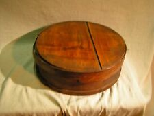 Large Wooden 15 x 15 x 5 Round Cheese Box Antique