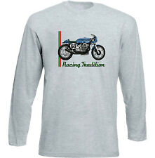 MOTO GUZZI CAFE RACER 2 - GREY LONG SLEEVED TSHIRT- ALL SIZES IN STOCK
