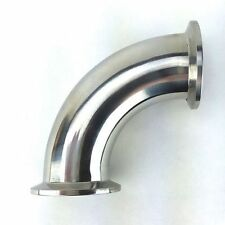 "90 degree 3"" Elbow with 3"" Tri Clamp Fittings, Stainless Steel 304"