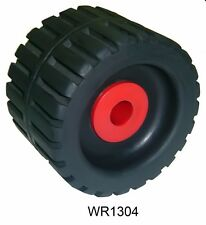 2 Pack MULTIFLEX Rubber 4 3/8 Inch X 3 Inch Ribbed Wobble Roller Boat Trailer