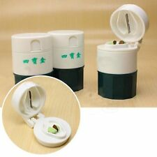 Pill Cutter Medicine Pulverizer 4 Layer Powder Splitter Storage Box Crusher
