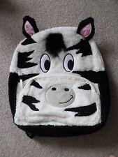 CLAIRES ZEBRA BLACK & WHITE BACK PACK  BAG BNWT £25 TAG KIDS GIRLS SCHOOL BAG