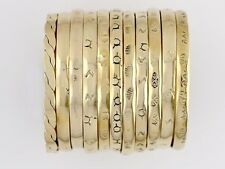 Brass Bangle Bracelets, Set of 3 Assorted Designs, Far Fetched Retired