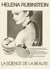Publicité Advertising 1980  HELENA RUBINSTEIN crème anti-rides soin du visage