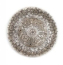 Aluminium Tibetan Round Flower Incense Burner Holder for Cones & Sticks