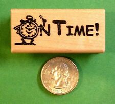 ON TIME - Teacher's Rubber Stamp, wood mounted