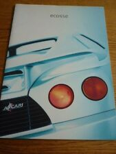 ECOSSE BY ASCARI  (BMW V8 ENGINE) VERY OVERSIZED CAR BROCHURE 1999 2000 MODELS