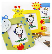 FD1518 Wooden Toy Cartoon Photo Frame Gift Baby Small Picture Show Window ~1PC~