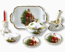 Reutter Porzellan Dinner Set Christmas Santa Christmas Dinner Dollhouse 1:12