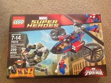 NEW Lego Spider Helicopter Rescue Marvel Super Heroes 76016 Sealed minifigures
