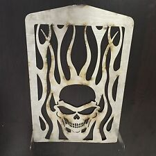 Skull Flame Radiator Grille Guard Cover Protector For Yamaha XVZ13 Royal Star A