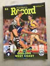 Vintage VFL/AFL 1992 Football Record 2nd Semi Final Geelong V West Coast