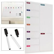 MAGNETIC FRIDGE WHITEBOARD LARGE DAILY MEAL PLANNER NOTICE MEMO DRYWIPE A3 BOARD