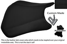 BLACK STITCH CUSTOM FITS HONDA CBR 600 RR5 RR6 05-06 FRONT LEATHER SEAT COVER