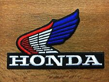 HONDA Wing Embroidered Iron On Patch or Sew Motorcycle Motocross Biker Racing