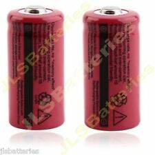 2 X TR16340 2500mAh 3.7V CR123A 123A Li-ion Rechargeable Battery Flashlight T5