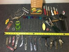 big lot of vintage bar tools and accessories bottle openers corkscrews stirrers