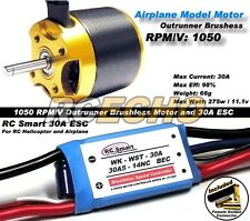 RC Model 1050 KV Outrunner Brushless Motor & R/C 30A ESC Speed Controller CA048