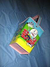 SUPER NICE Vintage Old Tin Litho Chein antique nursery rhymes Sand Pail Easter