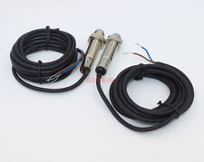 Through-beam M12 photoelectric sensor PNP NC Output 3Meters Detection x1pair
