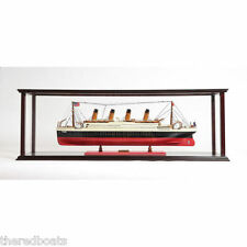 "Display Case for Ocean Liner Cruise Ship 36"" - Wooden Display Case"