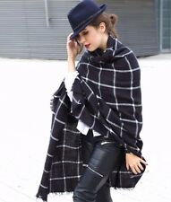 ZARA BLACK CHECK SCARF SHAWL BLOGGERS FAVOURITE