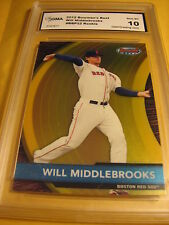 WILL MIDDLEBROOKS RED SOX 2012 BOWMAN'S BEST ROOKIE RC #BBP22 GRADED 10