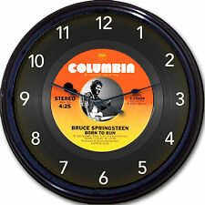 Bruce Springsteen Born to Run Wall Clock Retro Image of Vinyl 45 RPM Record 10""