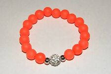 New Rustic Stainless Steel Silicone Milan Style Bright Orange Bracelet  Cuff