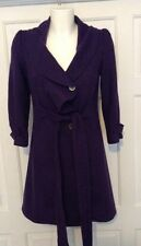 Stunning Top Shop U.K 8 purple wool blend coat 3/4 sleeves