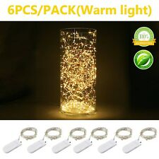 Pack of 6 Sets LED Starry String Lights 20 CR2032 Micro Starry Leds on Silver...