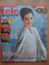 MARION COTILLARD on front cover Polish Magazine TELE MAGAZYN 41/2014