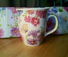 Burton + Burton Large 16 oz Floral Butterfly Coffee Tea Mug New