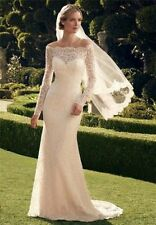 New Long Sleeve Lace Off-the-shoulder Wedding Dresses Bridal Gown Custom Size
