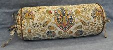 Ralph Lauren Marrakesh Rug Paisley Custom Neck Roll or Bolster Pillow with Cord
