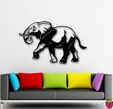 Wall Stickers Vinyl Decal African Elephant Animal Nature India Jungle (ig128)