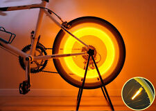 New Super Bright Bike Bicycle Wheel Valve Tire Spoke LED Light Magnet Base-Orang