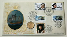 JOHN CABOT 500TH ANNIVERSARY BENHAM REPLICA COIN COVER 1997.