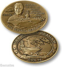 USS RONALD REAGAN CVN-76 NAVY BIG BRONZE CHALLENGE COIN
