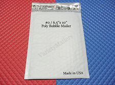 "20 POLY BUBBLE POSTAL MAILING ENVELOPES #0  6.5""x10"" SELF-SEALING ~ MADE IN USA!"