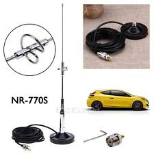 NR-770S Antenna Magnetic Mount Base UHF-M Cable+Connector for Car Mobile Radi
