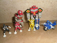 Lotto Stock 6 Mini Figure Power Rangers Micro Machines Dinosaur Megazord Moto