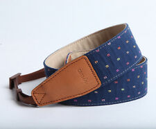 Adjustable DSLR Camera Strap by Cam-in - Navy blue with colourful dot pattern
