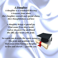 Personalised Coaster - Daughter  Poem - Graduation    +  FREE GIFT BOX
